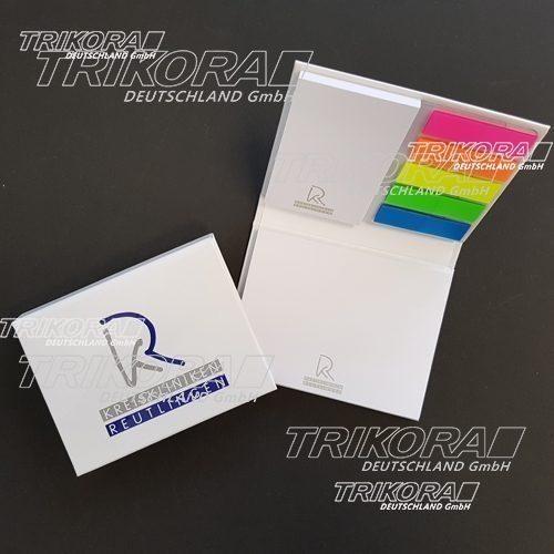 Haftnotizset mit 5 farbigen Folienmarkern KKH