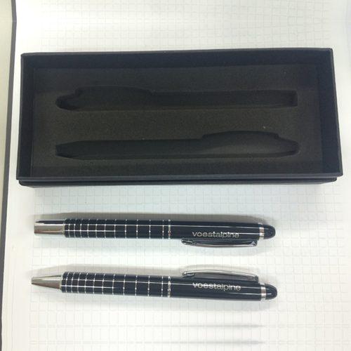 Schreibset mit Kugelschreiber und Tintenroller