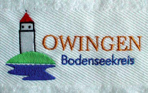 Handtuch mit Stickerei in der Bordüre
