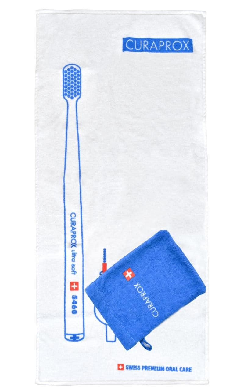 Handtuch mit bedruckter Tasche