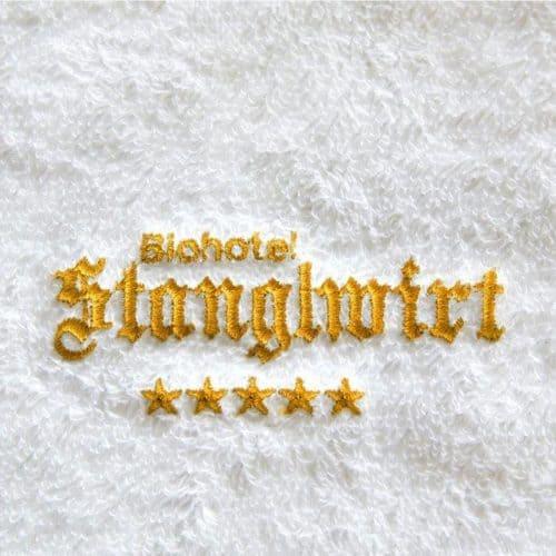 Handtuch mit Stickerei