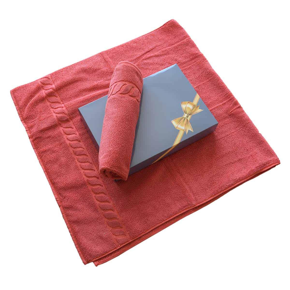 Handtuchset in schöner Geschenkverpackung