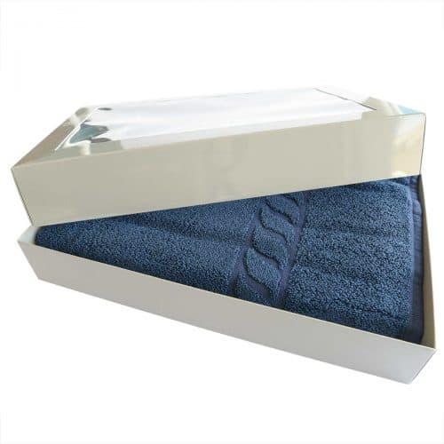 Handtuch Bambus dunkelblau