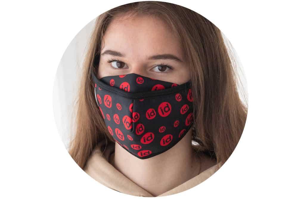 Mundschutz Gesichtsschutz Maske-textil-bedruckt