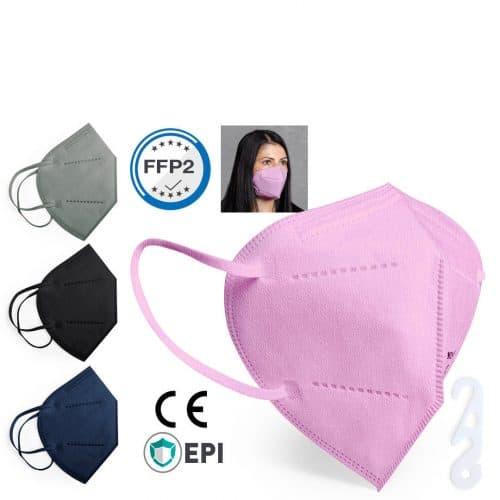 Corona FFP2-Maske farbig rose, blau, grau, schwarz, weiss