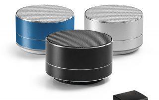 Lautsprecher_Bluetooth silber schwarz blau aus Aluminium